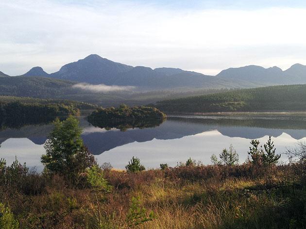 Beautiful lake and mountains