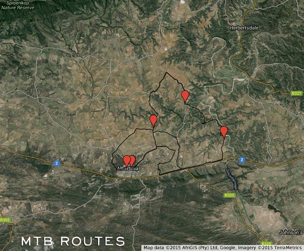 Giant Aloe MTB Routes