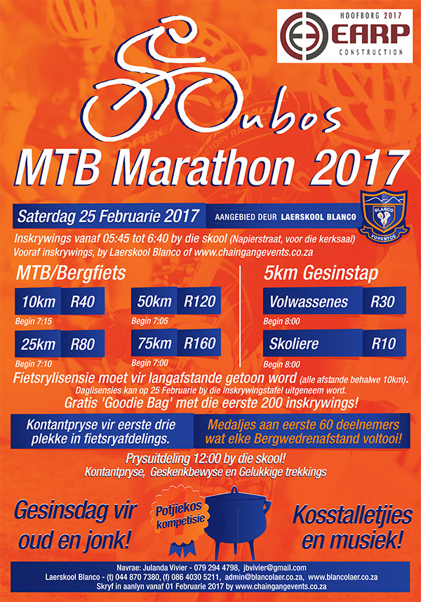 Oubos 10, 25, 50 and 70km MTB race