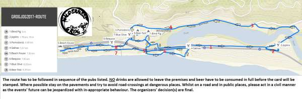Thousand Sensations Grog Jog Route
