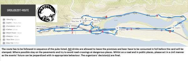 Thousand Sensations Grog Jog Route
