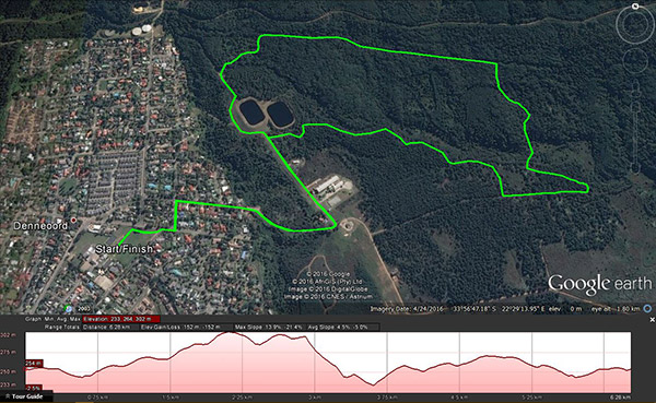 Trail Time 6km route and profile