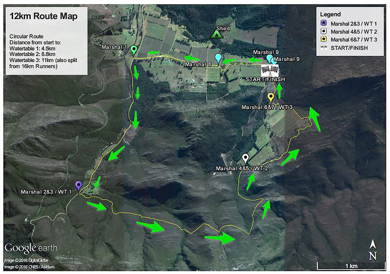 Red Men Trail Run 12km Route