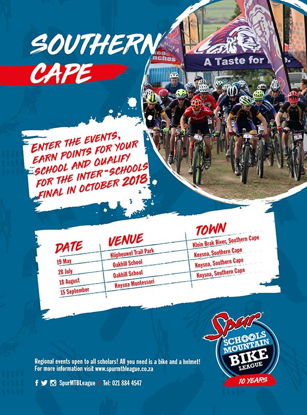 SPUR Eden Schools MTB League Series 2018