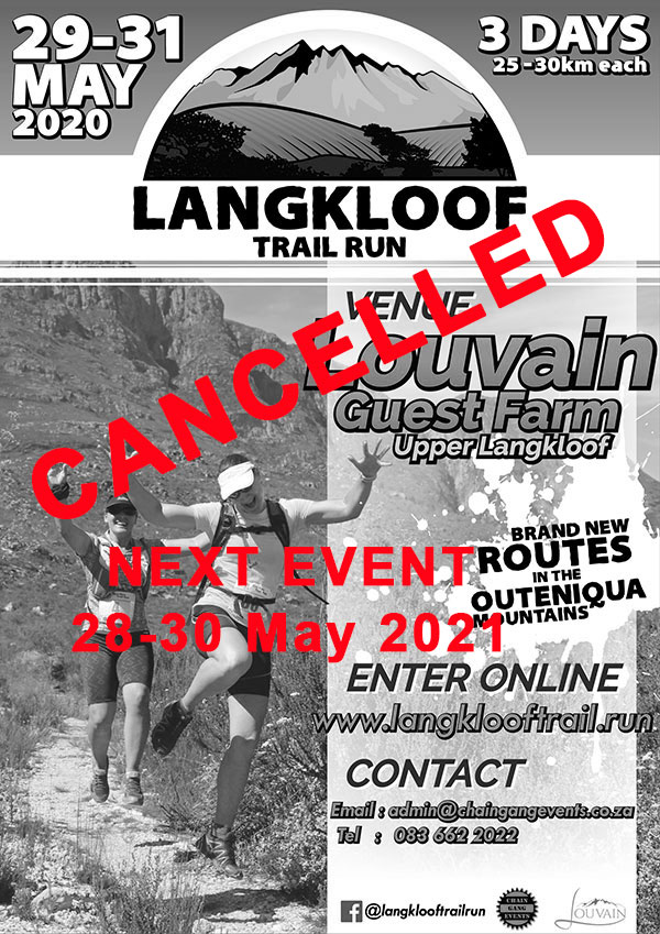 2019 Langkloof 3 Day Trail Run