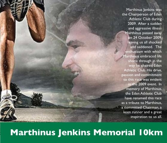 Marthinus Jenkins Memorial 10km RUN / WALK