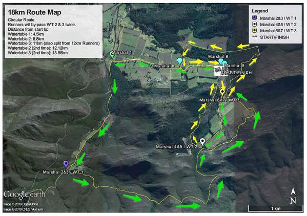 Red Men Trail Run 18km Route
