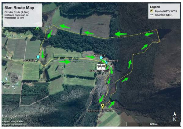 Red Men Trail Run 5km Route